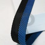 Edging tape pa r 4226 22mm black blue twill fir
