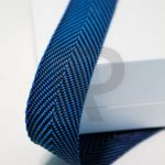 Edging tape pa r 4226 22mm black blue twill fir1